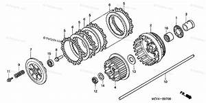 Honda Motorcycle 2005 Oem Parts Diagram For Clutch