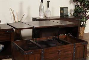 Coffee, Table, W, Lift, Top, Drawer, U0026, Casters, By, Sunny, Designs