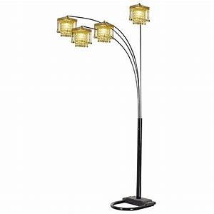 ore 5 arms arch floor lamp light fixtures design ideas With ore glass floor lamp