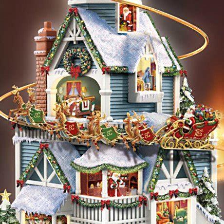 Thomas Kinkade Christmas Tree Village by Thomas Kinkade Santas And Christmas Home Decor Carosta Com