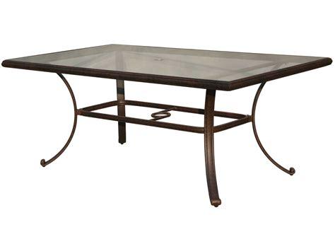 outdoor glass patio table darlee outdoor living glass top cast aluminum antique
