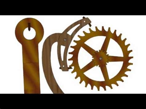 wooden escapement mechanism animation youtube