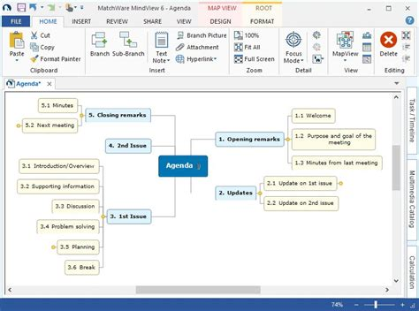 mind mapping  mindview mind mapping software