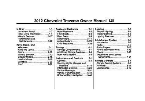 free auto repair manuals 2011 chevrolet traverse free book repair manuals 2012 chevrolet traverse owners manual just give me the damn manual