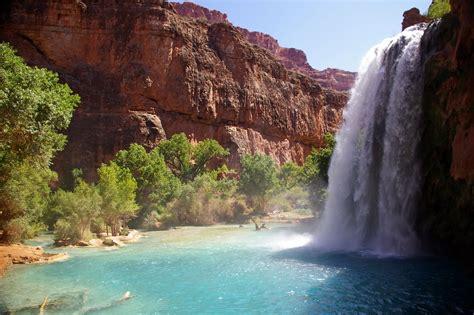 Havasu Falls Arizona Usa Beautiful Places To