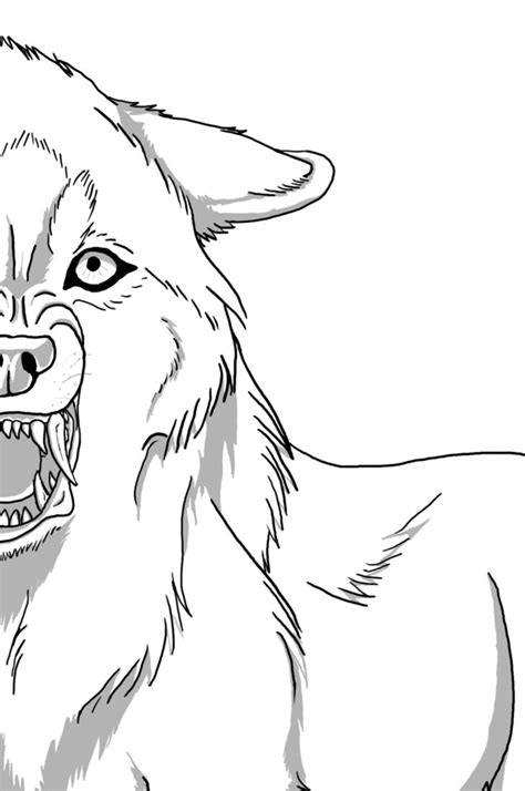snarling wolf lineart snarling wolf wolf drawing wolf