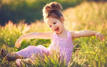Happy Child Summer Grass Wallpapers