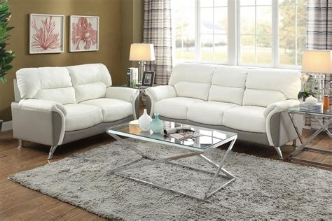 White Leather Loveseat by White Leather Sofa And Loveseat Set A Sofa