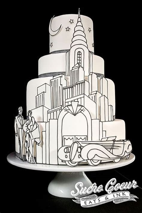 These 11 Art Deco Wedding Cakes Are Something To Roar