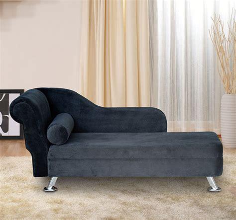deluxe black velvet chaise recliner lounge sofa day bed