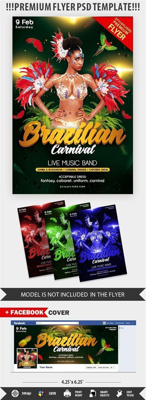 brazilian carnival flyer template brazilian carnival psd flyer template 22426 styleflyers