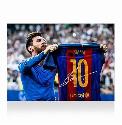 Messi Lionel Celebration Iconic Signed Barcelona Clasico