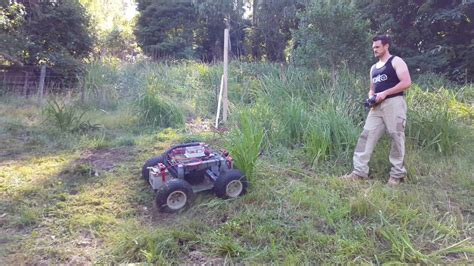 4x4 remote lawn mower part 2 youtube
