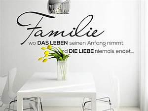 Wandtattoo Sprüche Familie : wandtattoo familie wo die liebe niemals endet ~ Frokenaadalensverden.com Haus und Dekorationen