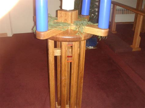 advent wreath candle holder  table  richgreer