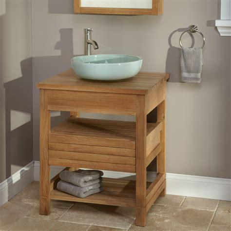 teak bathroom vanity bathroom wood sink vanity signaturehardware