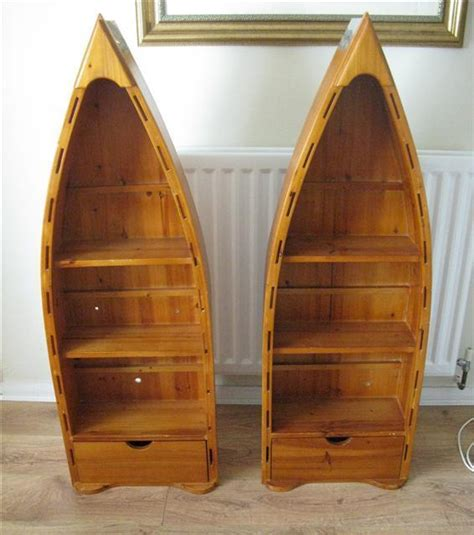 Canoe Boat Bookshelf by Diy Canoe Bookcase Wood Shelf Brackets Plans