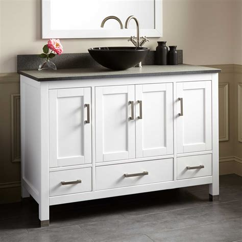48 white bathroom vanity 48 quot schneider vessel sink vanity white