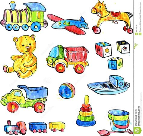 set  baby toys stock vector image