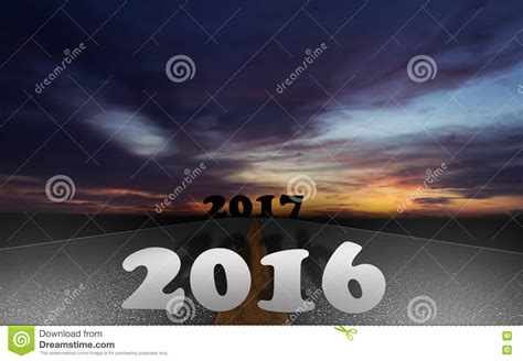 Road 2016 to 2017 Concept stock photo Image of highway