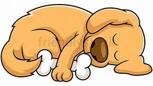 Sleeping Dog Cartoon Vector Clipart - FriendlyStock
