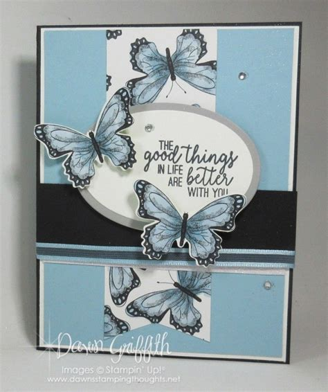 Stampin' Up botanical butterfly dsp Card sketches