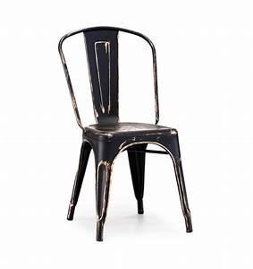 Black Gold Vintage Metal Tolix Chair TableBaseDepot