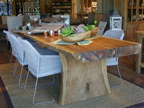 table tronc d arbre en bois exotique chalet tables salons and dining