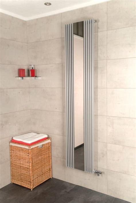 badkamer radiator spiegel bol designradiator arinna zilver grijs met spiegel