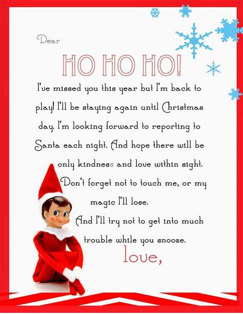 elf   shelf letter  printable yummy mummy