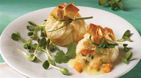 baluchons de crevettes et de brie recettes iga p 226 te phyllo recette facile entr 233 e