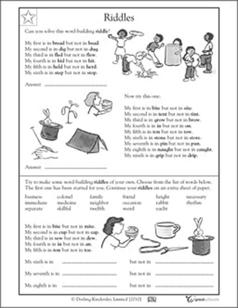 worksheets activities  spring break greatkids