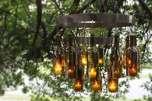 Unique Chandeliers Made Out Of Recycled Wine Bottles