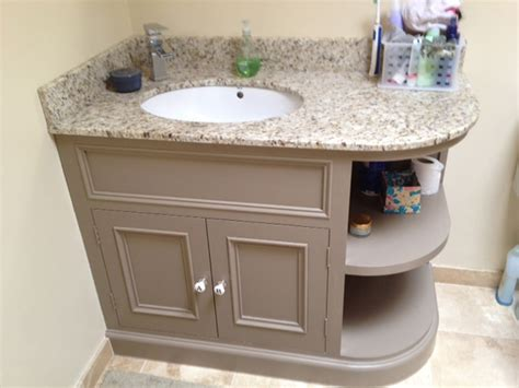 purpose  curved vanity unit peacock joinery