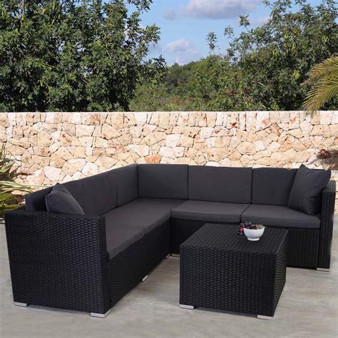 Rattan Garten by Poly Rattan Sofa Garnitur Rom Basic Sitzgruppe Lounge Set
