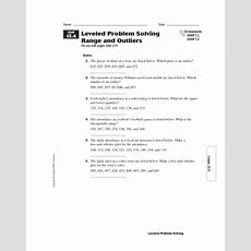 Range Interquartile Range Lesson Plans & Worksheets