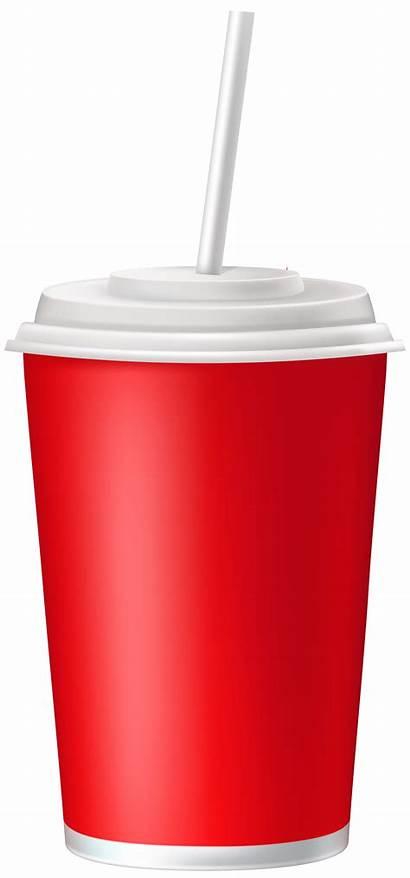 Straw Cup Plastic Clipart Transparent Lid Clip