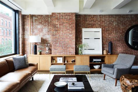 Exposed Brick Two Ways by Who Wore It Better The Exposed Brick Wall Living Room