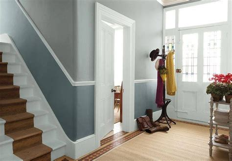 dado rail colour dulux hallway paint colours living hallways room victorian grey escalier wall purple below hall stairs walls landing