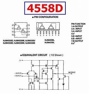 4558d Datasheet Pdf - Dual Operational Amplifier