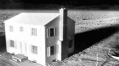 Nuclear Suburban 1950s Town Blast Testing Mile