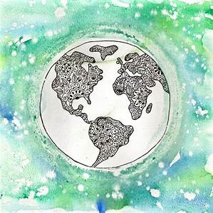 Best Photos of Earth Sketch Drawing - Travel the World ...