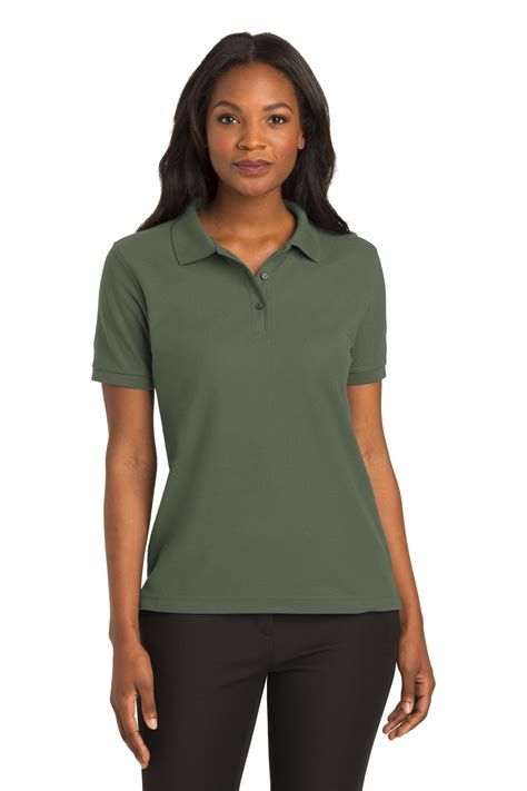 Greenlight Classic Polo Grey port authority 174 silk touch polo silk touch