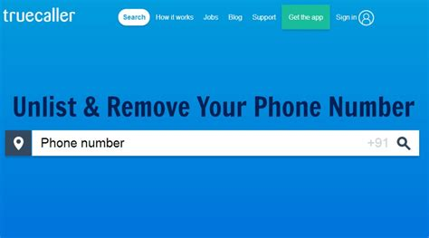 how to unlist remove your phone number from truecaller search