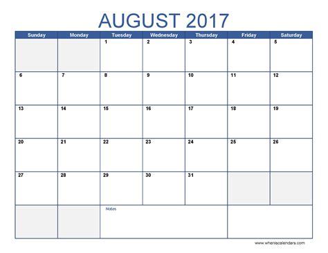 august calendar template august 2017 calendar monthly calendar 2017