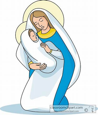 Mary Virgin Clipart Jesus Mother Child Christ