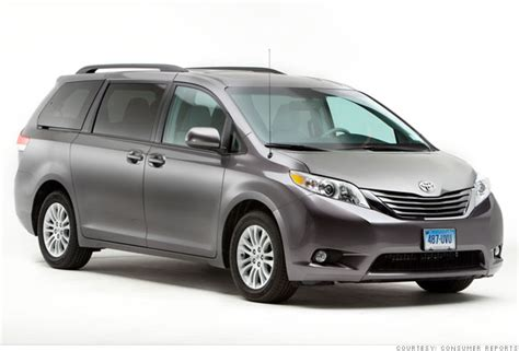 consumer reports top car picks family hauler toyota