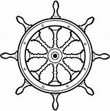 Wheel Ship Boat Clipart Steering Wheels Nautical Pirate Line Cartoon Vinyl Boats Tattoo Shipping Ships Sticker Google Decals Vector Kid sketch template