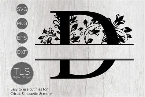 split monogram letter  svg letter  monogram svg  cut files design bundles