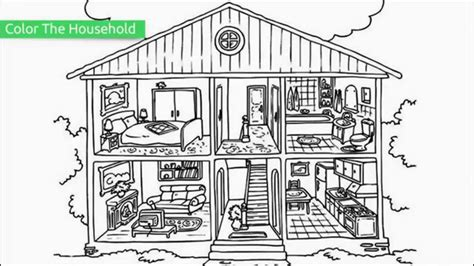Top 20 Free Printable House Coloring Pages Youtube